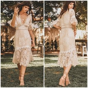 NEW Saylor Maggy Lace Dress X Revolve Size Large